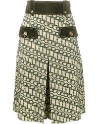 Gucci - Horsebit Print Knee Length Shorts - Lyst
