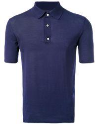 Hardy Amies - Knit Polo Shirt - Lyst