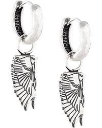 Marcelo Burlon Wing Hoop Earrings - Metallic