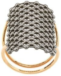 Diane Kordas - Crystal Embellished Net Pattern Ring - Lyst