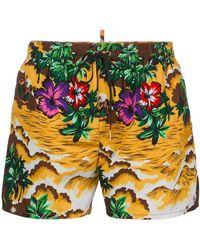 DSquared² - Hawaii Beach Print Swim Shorts - Lyst