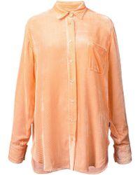 Sies Marjan - Ribbed Velvet Shirt - Lyst