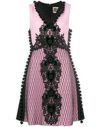 Fausto Puglisi - Embroidered A-line Dress - Lyst