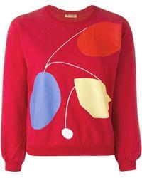 Peter Jensen - Art Cropped Sweatshirt - Lyst