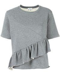Carven - Ruffled Trim Sweatshirt - Lyst