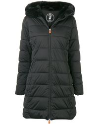 Save The Duck - Faux-fur Trim Puffer Jacket - Lyst