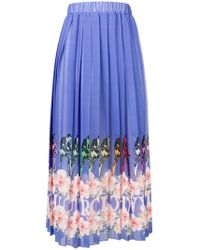 Ultrachic - Pleated Printed Skirt - Lyst