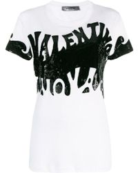 Valentino - Printed Logo T-shirt - Lyst
