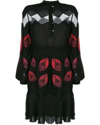 Just Cavalli - Embroidered Long-sleeve Dress - Lyst