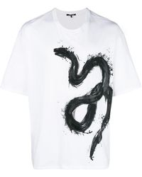 b1b60173726a Gucci Snake Print T-shirt in Red for Men - Lyst