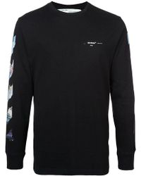 Off-White c/o Virgil Abloh - Black Diag Arrow L/s T-shirt - Lyst