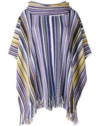 M Missoni - Striped Oversized Poncho - Lyst