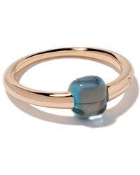 Pomellato - 18kt Rose & White Gold M'ama Non M'ama Blue Topaz Ring - Lyst
