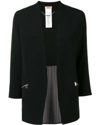 Liu Jo - Back Pleat Collarless Blazer - Lyst