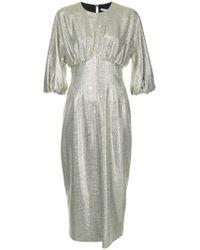 Emilia Wickstead - Kleid im Metallic-Look - Lyst