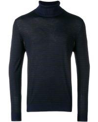 Eleventy - Striped Turtleneck Pullover - Lyst