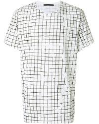 Haider Ackermann - Square Print Shortsleeved T-shirt - Lyst