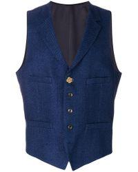 Lardini - Tailored Fitted Waistcoat - Lyst
