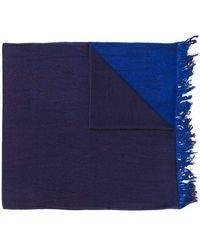 Suzusan - Frayed Colour Block Scarf - Lyst