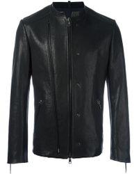 Tom Rebl - Double Zipped Collarless Jacket - Lyst