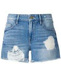 FRAME - Distressed Shorts - Lyst