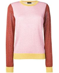 Stine Goya - Perforated Colour-block Sweater - Lyst