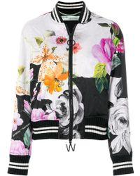 Off-White c/o Virgil Abloh - Floral-print Bomber Jacket - Lyst