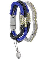 Camila Klein - Millipede Leather Trim Two-bracelet Set - Lyst