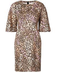 Adam Lippes - Vestido midi con estampado de leopardo - Lyst