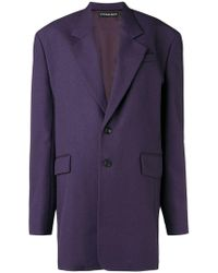 Y. Project - Classic Single Breasted Coat - Lyst