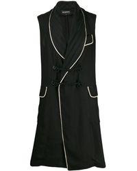 Ann Demeulemeester Contrast Sleeveless Coat