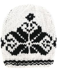 Antonia Zander - Knit Hat With Embroidered Print - Lyst