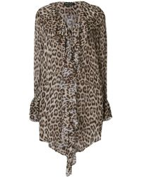 Twin Set | Leopard Print Long-sleeve Blouse | Lyst
