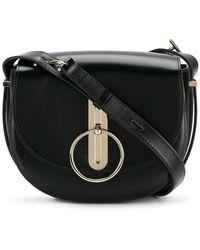 Nina Ricci - Disc Buckle Rounded Shoulder Bag - Lyst