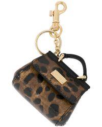 Dolce & Gabbana - Mini Sicily Bag Keyring - Lyst