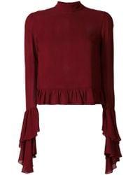 Giamba | Frill-trim Knitted Top | Lyst