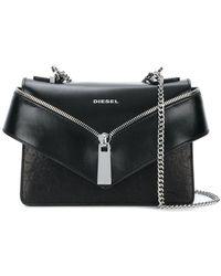 DIESEL - Zip Front Envelope Shoulder Bag - Lyst