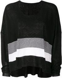 Rundholz Black Label | Flared Colour-block Sweater | Lyst