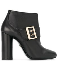 Lanvin - Leather Mary-Jane Ankle Boots - Lyst