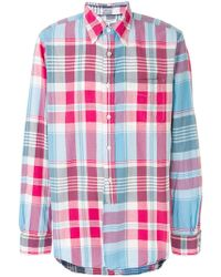 Engineered Garments - Checked Button-down Shirt - Lyst
