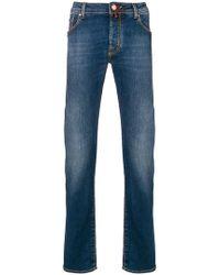 Jacob Cohen - Schmale Jeans mit Einstecktuch - Lyst