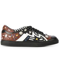 Toga Pulla - Studded Lace Up Trainers - Lyst