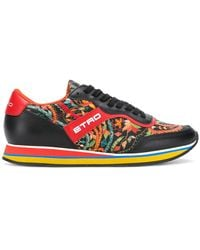 Etro - Floral Runner Trainers - Lyst