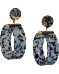 Lele Sadoughi - Binocular Hoop Earrings - Lyst