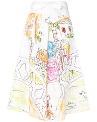 Marni - Printed Panel Skirt - Lyst