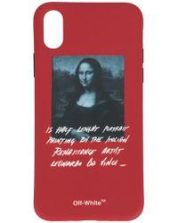 Off-White c/o Virgil Abloh - IPhone-Hülle mit Mona Lisa-Print - Lyst