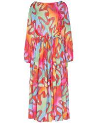 Molly Goddard - Printed Maxi Dress - Lyst