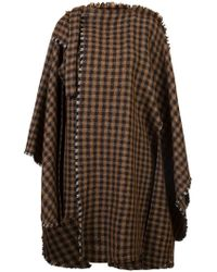 Lemaire - Checked Poncho - Lyst
