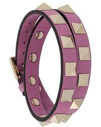 Valentino - Garavani Rockstud Wrap Bracelet - Lyst