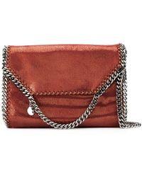 973d327ef4 Stella McCartney - Large Falabella Shiny Dotted Chamois Shoulder Bag - Lyst